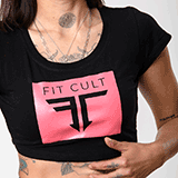 Fitcult Croptop Basic Line Nera - S